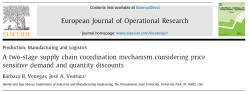 مقاله ترجمه شده مکانیزم هماهنگ سازی یک زنجیره تامین دو سطحی با درنظرگرفتن تقاضای حساس به قیمت و تخفیف